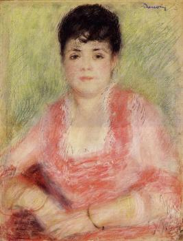 Pierre Auguste Renoir : Portrait of a Woman in a Red Dress