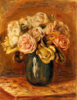 Roses in a Blue Vase II