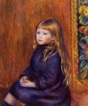 Pierre Auguste Renoir : Seated Child in a Blue Dress