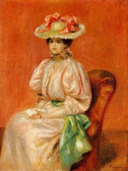 Seated Woman with Green Sash