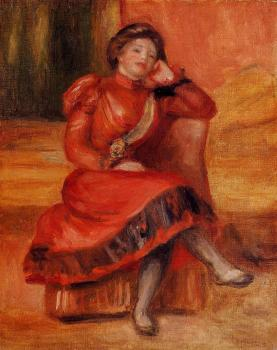 Pierre Auguste Renoir : Spanish Dancer in a Red Dress