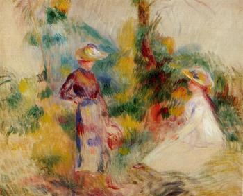Two Women in a Garden II