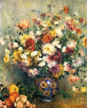 Vase of Chrysanthemums II