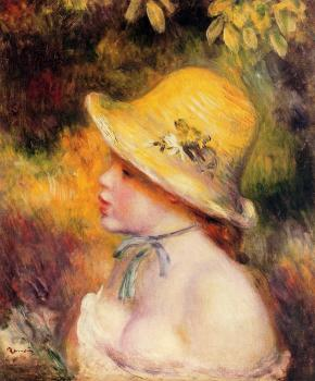 Young Girl in a Straw Hat II