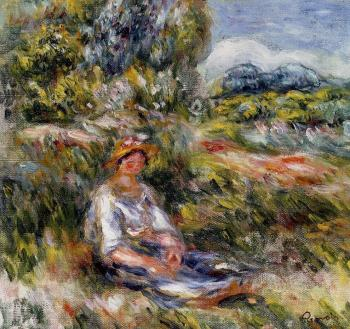 Young Girl Seated in a Meadow