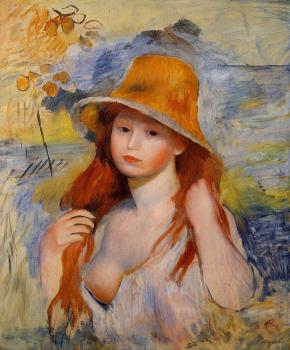 Young Woman in a Straw Hat II