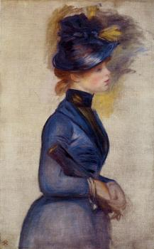 Young Woman in Bright Blue at the Conservatory