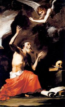 Jusepe De Ribera : St. Jerome and the Angel of the Last Judgement