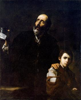 Jusepe De Ribera : Blind Beggar and his Boy