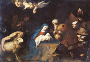 Jusepe De Ribera : Adoration of the Shepherds