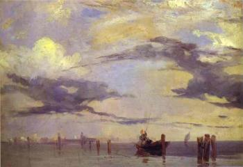 Richard Parkes Bonington : View of the Lagoon Near Venice