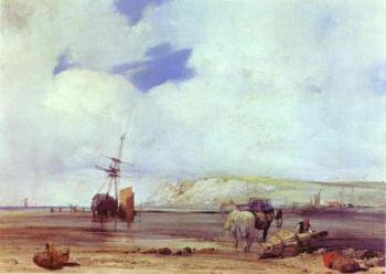 Richard Parkes Bonington : On the Coast of Picardy