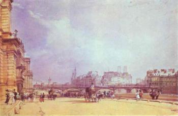 Richard Parkes Bonington : Paris. Quai du Louvre.