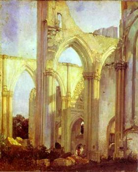 Richard Parkes Bonington : Abbey of St. Berlin, near St. Omer