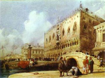 Richard Parkes Bonington : The Doge's Palace, Venice