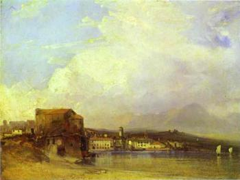 Richard Parkes Bonington : Lake Lugano
