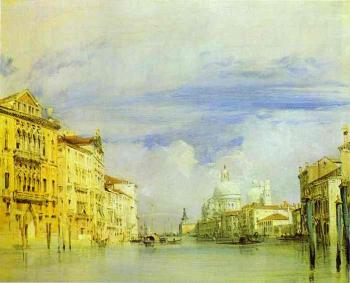 Richard Parkes Bonington : Venice. The Grand Canal.