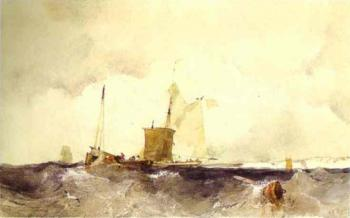 Richard Parkes Bonington : At the English Coast
