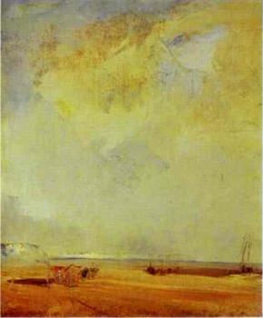 Richard Parkes Bonington : View of the Coast of Normandy