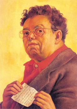 Diego Rivera : Self-Portrait Dedicated to Irene Rich,Autorretrato dedicado a Irene Rich