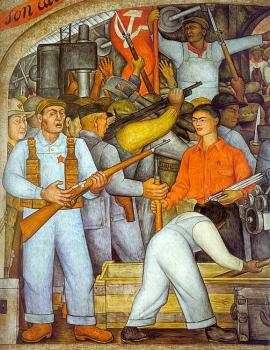Diego Rivera : The Arsenal, Frida Kahlo Distributes Arms