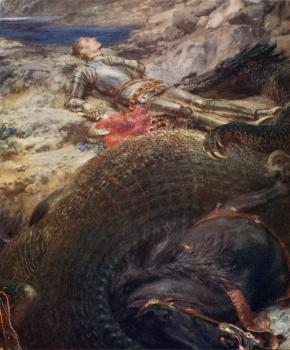 Briton Riviere : St George and the Dragon
