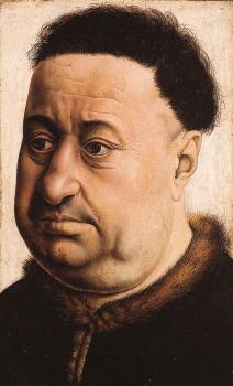 Robert Campin : Portrait of a Fat Man