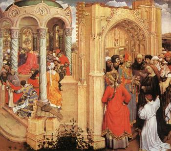 Robert Campin : The Marriage of Mary
