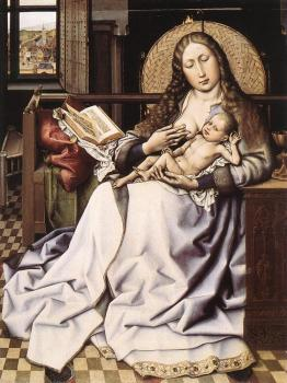 Robert Campin : The Virgin and Child before a Firescreen