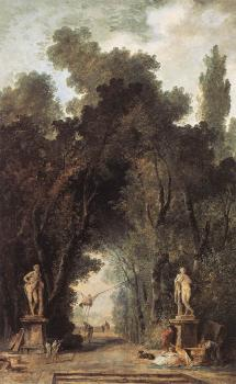 Hubert Robert : Avenue in a Park