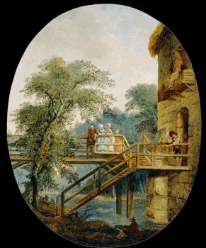 Hubert Robert : The Footbridge