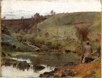 Tom Roberts : A quiet day on Darebin Creek