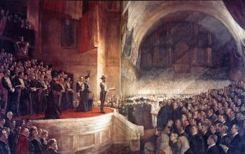 Tom Roberts : Opening of the first parliament