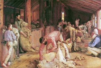 Tom Roberts : Shearing the Rams