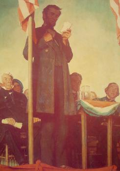 Norman Rockwell : Abraham Delivering the Gettysburg Address