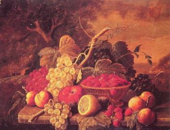 Severin Roesen : Still Life with Fruit