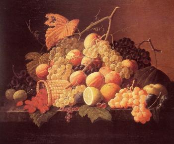 Severin Roesen : Still Life with Fruit II