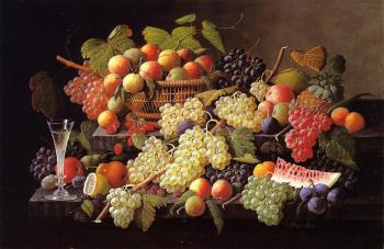 Severin Roesen : Still Life with Fruit III