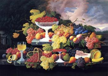 Severin Roesen : Still Life with Fruit IV