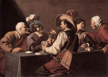 Theodoor Rombouts : The Card Players