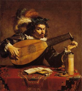 Theodoor Rombouts : The Lute player
