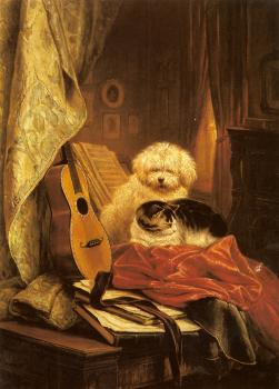 Henriette Ronner : Best Friends