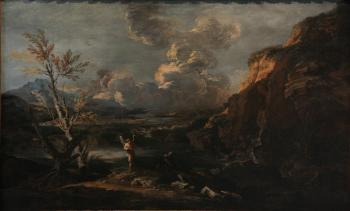 Landscape with Tobit and the angel