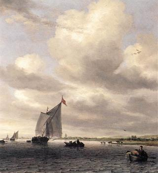 Salomon Van Ruysdael : Seascape