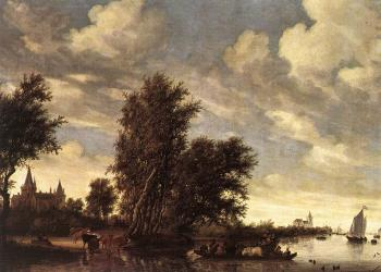 Salomon Van Ruysdael : The Ferry Boat