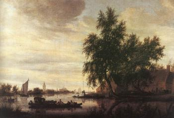 Salomon Van Ruysdael : The Ferry Boat II