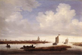 Salomon Van Ruysdael : View of Deventer Seen from the North-West