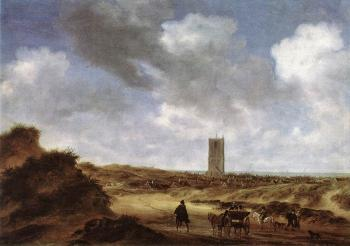 Salomon Van Ruysdael : View of Egmond aan Zee