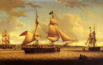 Robert Salmon : Ship off Liverpool