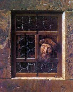 A Man Looking Through a Window